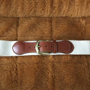 Vintage Lands' End Brown and Cream Belt